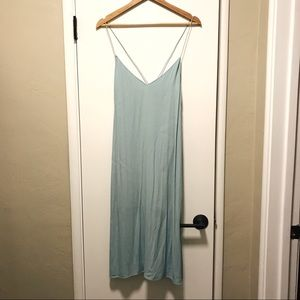 Aritzia Light Blue Midi Dress